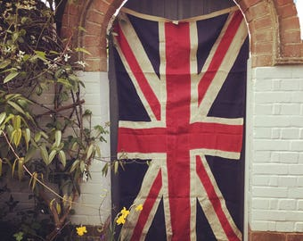Vintage, large Union Jack flag -sectioned construction