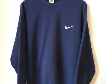 Rare! NIKE Sweatshirt Vintage 90's Small logo Large size on tag