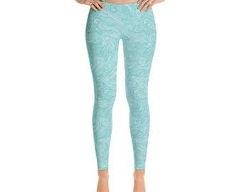 Brushed Waves - Premium Womens Leggings - Fancee Pants Co