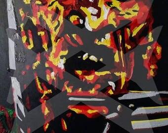 Freddy Krueger - Nightmare on Elm Street Pop Art Painting