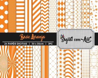 50% OFF - Orange Digital Paper