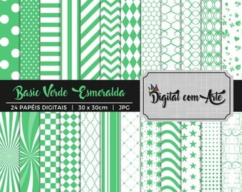 Emerald Green Digital Paper