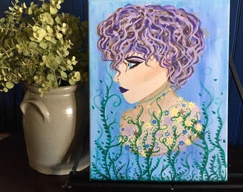 Wysteria | Curly Hair and Dramatic Makeup | Flowers and Vines