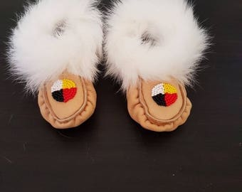 Size 6 Baby moccasins