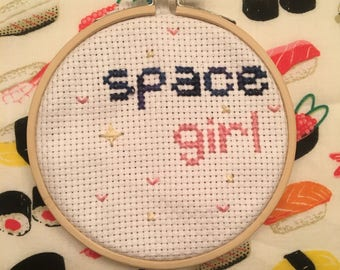 Embroidered Wall Hanging {Space Girl}