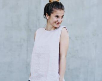 Women's linen top sleeveless