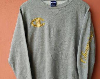 Vintage Champion Big Logo Spell out Sweatshirt Rare
