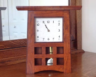 Cherry Mission Mantle Clock