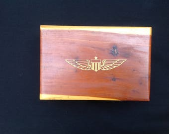 Vintage Wooden Cigar Box /Banquet Cigarettes Box