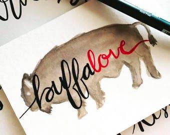 Buffalove Hand Painted Art