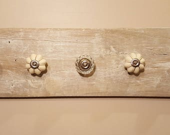 Towel or Coat rack with decorative Knobs
