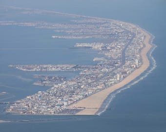 Aerial of Ocean City Maryland - March 2017