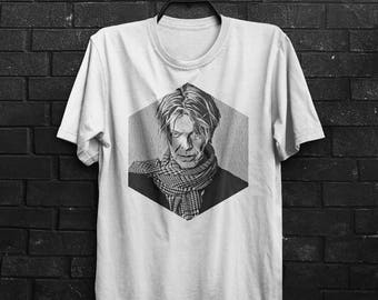 David Bowie Shirt Men T Shirt David Bowie T-Shirt Man Tee Bowie Tshirt Birthday Gift For Him Men Clothing T Shirt Gray T Shirt White Shirt