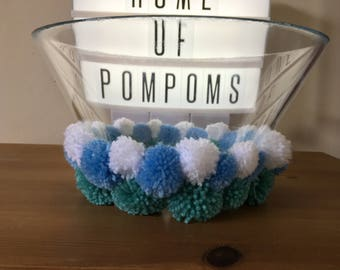Pom Pom Glass Serving Bowl