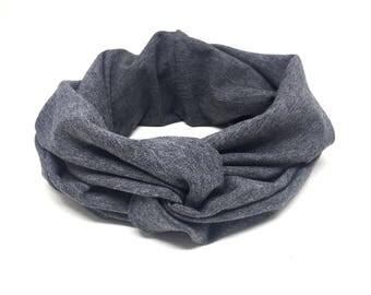 Grey Headband adult, headband knot adult, knot headband, knotted headband, adult knot headband, adult headband knot, knot adult headband