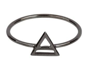 Solid 14K ROSE GOLD Element Air Symbol Ring