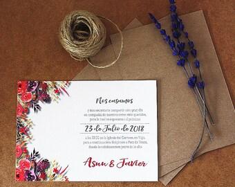 Flowers invitation