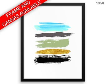 Brush Canvas Art Abstract Printed Brush Living Room Art Abstract Living Room Print Brush Framed Art Abstract watercolor lines abstract art