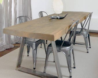 Industrial style SOLID WOOD TABLE