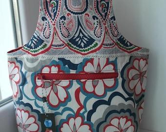 Wristlet Project Bag for Knitting Crochet Projects Wristlet Knitting Bag Yarn Bag Yarn Wrist Project Bag