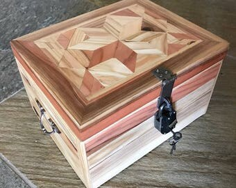 Parquetry Woven Memory Boxes