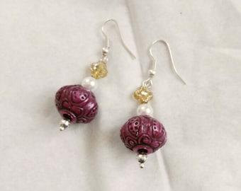 Earrings Purple Dream