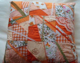 Cushion - handmade quilted crazy patchwork