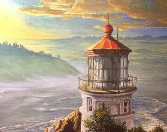 Crystal Skelley unframed canvas print of lighthouse