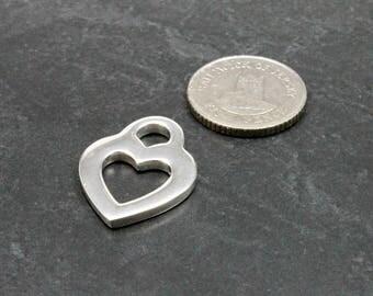 Open Heart Pendant, Open Sterling Silver Heart Pendant, Heart pendant, Silver Heart pendant, Sterling Silver open heart charm