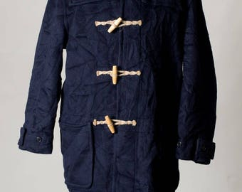 Vintage Gloverall Duffle Navy Blue Coat jacket Size M