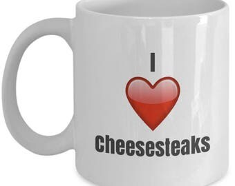 I Love Cheesesteaks unique ceramic coffee mug Gifts Idea
