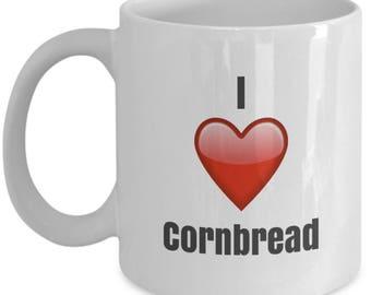 I Love Cornbread, Cornbread Mug, Cornbread Coffee mug, Cornbread lover gifts, Cornbread Gifts