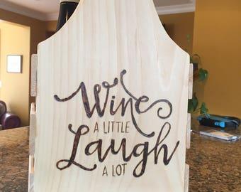 Rustic wine crate