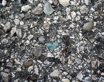 Heart shaped blue rock, nature's beauty photo