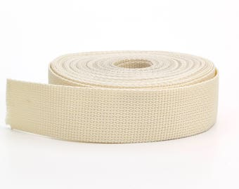 "Polypropylene webbing, 1.5"" Wide, 10 yds, Bone"