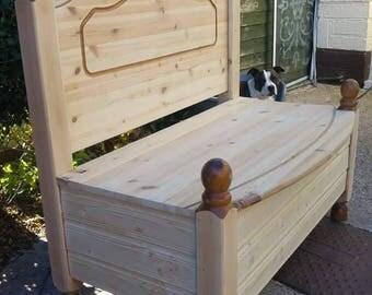 Handmade farmhouse style pine bench