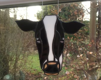 Stained glass cow