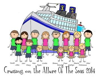 Custom Cruise Vacation T Shirt-Sizes newborn to adult 3XL