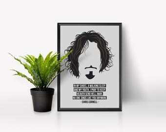 No One Sings Like You Anymore - Chris Cornell - A4 Poster - High Gloss - Proceeds go to PAPYRUS Charity