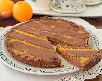 Chocolate Tart with Tangerine Marmalade
