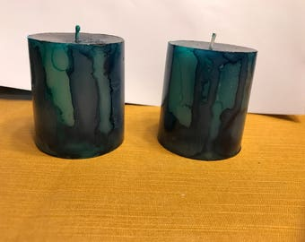 Gorgeous Turquoise and Blue Candles