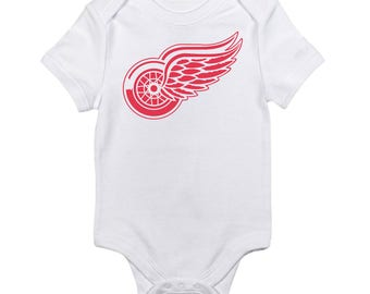 Detroit Red Wings Logo Baby Onesie