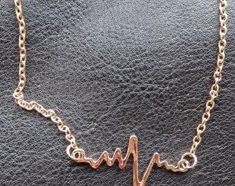 Ecg electrocardiogram NECKLACE necklace HEARTBEAT heartbeat