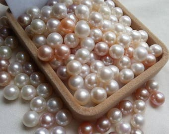 AAAA+ 7-8mm Big Natural White Yellow, purple Rare Rosebud Freshwater Pearls,10 beads,thorn pearl,white baroque pearls,loose pearl beads
