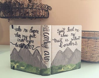 Mountain theme painted bible