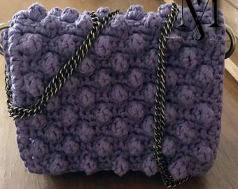 Handmade, knitted, chic and jolie bag