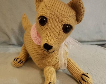 Hand knitted Chihuahua dog