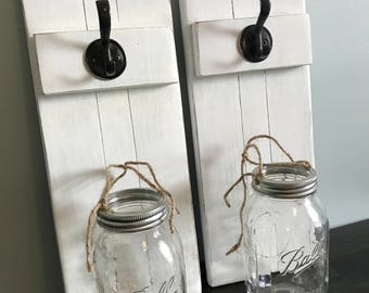 Wall Mason Jar Lanterns