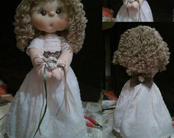 Unique handmade cloth doll