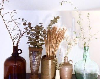 Vintages vases   Vintage bottles   Pottery vase   Glass bottle